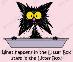 litter box cartoon